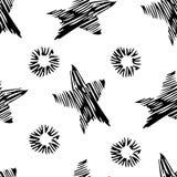 Seamless stylish hand drawn pattern Royalty Free Stock Images