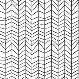 Seamless stylish hand drawn pattern Royalty Free Stock Photo