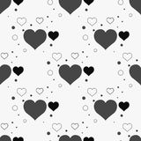 Seamless stylish pattern with black hearts. Vector illustration. Eps 10 Royalty Free Stock Image