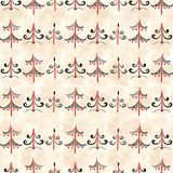 Seamless stylish pattern with black and white watercolor fir trees. Illustration Royalty Free Stock Image