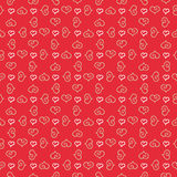 Seamless stylish pattern with hearts Royalty Free Stock Photography