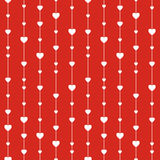 Seamless stylish red pattern with hearts. Vector illustration Royalty Free Stock Photo