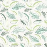 Seamless stylish tropical leaves pattern. Floral abstract seamless pattern. royalty free illustration