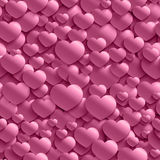 Seamless stylish Valentine`s Day pattern with hearts. Royalty Free Stock Photography
