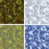 Seamless stylized camouflage patterns with Stock Photo