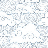 Seamless stylized clouds pattern Royalty Free Stock Photos