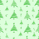 Seamless stylized fir-trees Royalty Free Stock Image