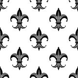 Seamless stylized fleur de lys pattern Stock Image