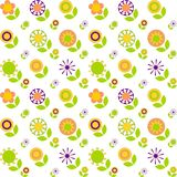 Seamless stylized flowers background Royalty Free Stock Images