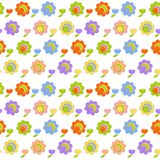Seamless stylized flowers blossom tile Stock Images