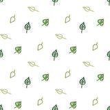 Seamless stylized green leaves pattern Royalty Free Stock Image