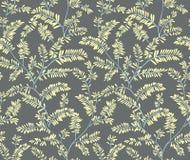 Seamless stylized leaf fern pattern. Vector Illustration . Doodle backgrounded. Seamless vector background. stock illustration