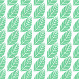 Seamless stylized leaf pattern background. Minimalistic natural bakground. Simple vector texture with leaves placed in Royalty Free Stock Photo