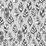 Seamless stylized leaf pattern. Decorative templat Royalty Free Stock Photography