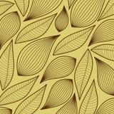 Seamless stylized leaf pattern, Stock Photography