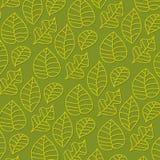 Seamless stylized leaf pattern, Stock Image