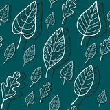 Seamless stylized leaf pattern. Vector illustratio Stock Photos