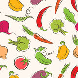Seamless stylized vegetables Royalty Free Stock Images