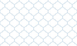 Seamless subtle blue and white wide moroccan pattern vector. Seamless subtle blue and white wide moroccan pattern Royalty Free Stock Images