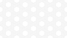 Seamless subtle gray hexagonal isometric op art revolving star with dotted fill pattern vector Royalty Free Stock Image
