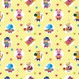 Seamless summer animal pattern Royalty Free Stock Images