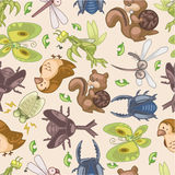 Seamless summer animal pattern Royalty Free Stock Photo