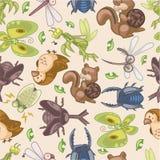 Seamless summer animal pattern Royalty Free Stock Photo