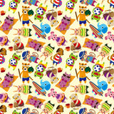 Seamless summer animal pattern Stock Image
