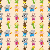 Seamless summer animal pattern Stock Images