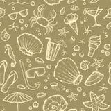 Seamless summer beach pattern Stock Photography