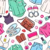 Seamless summer clothing Royalty Free Stock Photo