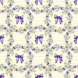 Seamless summer floral pattern. Hand painted watercolor background. Seamless summer floral pattern. Hand painted watercolor background vector illustration