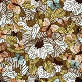 Seamless Summer Floral Pattern Royalty Free Stock Image