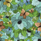 Seamless Summer Floral Pattern Stock Image