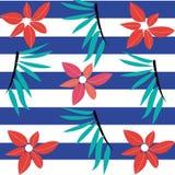 Seamless summer flower pattern Stock Photo