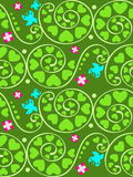 Seamless summer garden pattern Stock Images