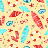 Seamless summer holiday pattern Stock Photography