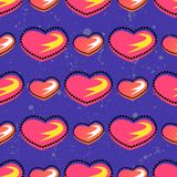 Seamless summer pattern with bright heart element on brith background For teenagers valentines day Stock Photo
