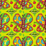Seamless summer pattern with butterfly. Vector Background Royalty Free Stock Photography