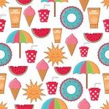 Seamless summer pattern Stock Photos