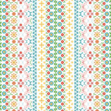 Seamless summer pattern with flowers and butterflies Royalty Free Stock Photo