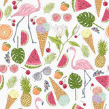 Seamless summer pattern Royalty Free Stock Photography