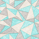 Seamless summer pattern patchwork. Zentangl with elements of flo Stock Photo