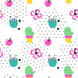 Seamless summer pattern stock illustration