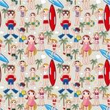 Seamless summer people pattern Stock Image