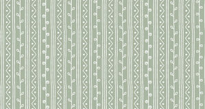 Seamless summer sketch vector pattern. Twigs lines and zigzags background. Hand drawn texture Stock Photo
