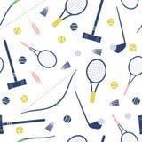 Seamless summer sport equipment pattern Stock Image