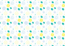 Seamless summer theme background in blue and green. Hand drawn summer theme background in blue and green color theme Royalty Free Stock Photo