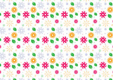 Seamless summer theme background in bright colors. Hand drawn summer theme background in bright color theme Stock Images