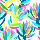 Seamless summer tropical floral pattern Stock Images